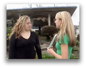 Girl bullying, still from Bullies and Friends